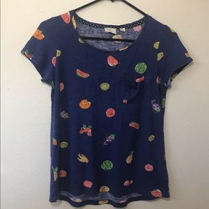 Anthropologie Fruit Print T-Shirt